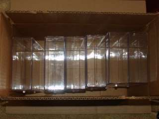 Clear plastic display boxes.Case.Showcase.(6) Large.