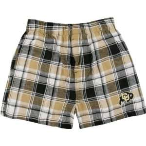 Buffaloes Black/Gold Legend Flannel Boxer Shorts Sports & Outdoors