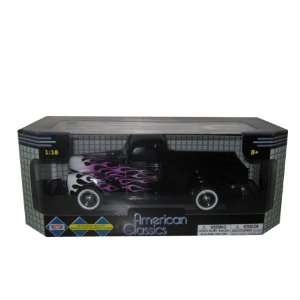 1940 Ford Pickup Truck Black With Flames 118 Toys & Games