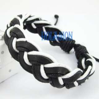 12pcs New Fashion Jewelry Women / Men Leather Hemp Braided Bracelet
