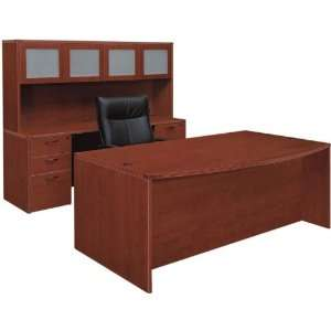 Bow Front Three Piece Office Set by DMI Office Furniture