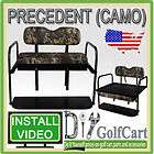 Club Car Precedent Golf Cart Rear Flip Back Folding Seat Kit Plastic