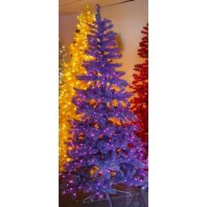 Pre lit Lighted Artificial Purple Christmas Tree Home