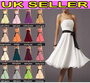 Dress Bridal Wedding Bridesmaid Prom Ball Party Evening Cocktail Sizes