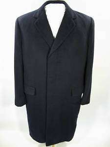 Vintage 1930s incredibly soft 100% CASHMERE Navy Blue Coat overcoat
