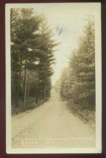 082009A RPPC POSTCARD DIRT ROAD TO FOREST PRIMEVAL SAYNER WI