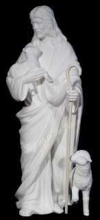 Christ The Good Shepherd & Lamb Religious Figurine 1990 ~Minty