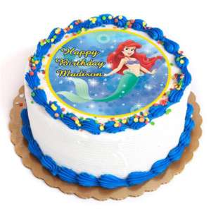 ARIEL PRINCESS Edible Cake Image Party Decoration Round