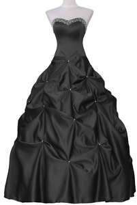 C22 BLACK FORMAL PROM BALL GOWN EVENING DRESS us SIZE