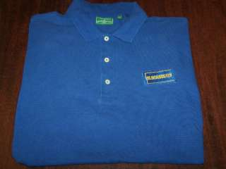 BLOCKBUSTER VIDEO Collared Employee GOLF Shirt XXL Nice