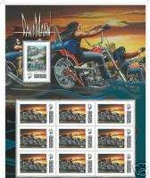 DAVE MANN FAMILY STAMPS EASYRIDERS DAVID MANN STAMP SHEET & BONUS