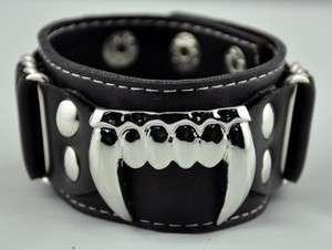 Vampire Fang Wristband Bite Me Goth Teeth True Blood
