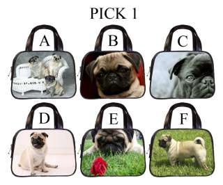 Pug Dog Puppy Puppies A F Leather Handbag Purse #PICK 1