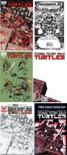 Teenage Mutant Ninja Turtles #1 TMNT HTF 4 pack IDW +++