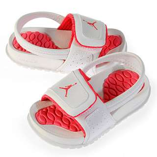 NIKE JORDAN HYDRO 2 (TD) INFANTS Size 10 White Toddler Baby Sandals