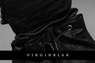 vb HOMME Chrome STUDDED Black Leather Backpack 1QU