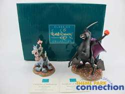 Disney WDCC LE 3500 Mr Toad HEADLESS HORSEMAN & ICHABOD CRANE 2 Figure
