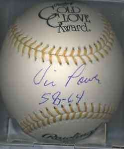 Vic Power 1962 Minnesota Twins Gold Glove Signed Ball