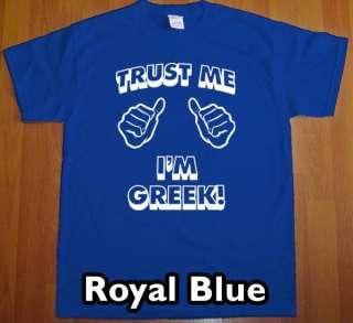 trust me im GREEK MEN T Shirt retro vintage greece Tee