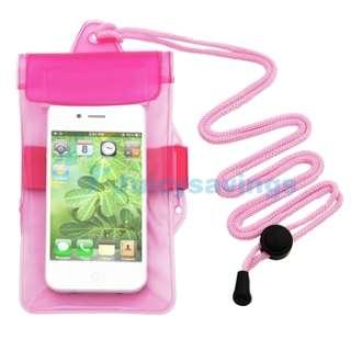 Waterproof Pink+Blue+Black Armband Case Accessory Bundle For Apple