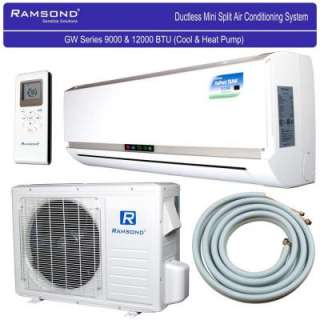BTU 1+ Ton Ductless Mini Split Air Conditioner & Heat Pump   120V/60Hz