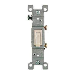 Leviton 15 Amp Light Almond Single Pole Toggle Switch R56 01451 02T at