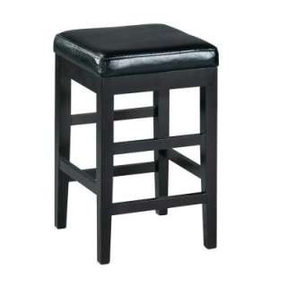 Home Decorators Collection Leather Black Backless Breakfast Counter