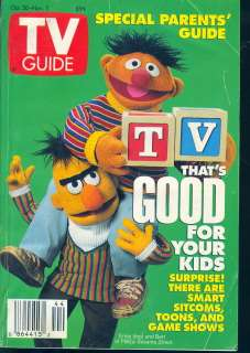 1993 TV Guide Bert & Ernie   Sesame Street   Kids TV