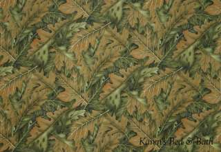 Camouflage Leaf Leaves Cabin Lodge Curtain Valance