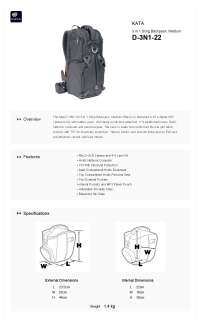 KATA 3N1 22 3in1 Sling Backpack Camera Carrying DSLR D 3N1 22 *Free