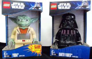 LEGO STAR WARS ALARM CLOCK  YODA   DARTH VADER   STORM TROOPER   BOBA
