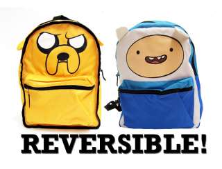 Adventure Time Finn Jake LICENSED Backpack School Bag REVERSIBLE