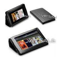 KINDLE FIRE BLACK PREMIUM LEATHER COVER CASE WITH ROTATING STAND