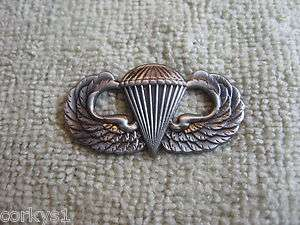 US Army Airborne Jump Wings Parachue Badge Pararooper Jump Wings