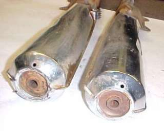 76 HONDA CB200 EXHAUST MUFFLER PIPES