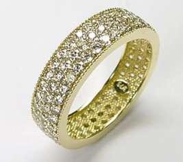 375 GOLD *** Zirkonia Ring Memory  Ring *** Gr. 17, 20