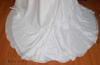 2358 Winter White Taffeta Laced Draping Wedding Dress 20 NWOT