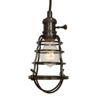 Light Aged Bronze Cage Pendant Light 25415 105