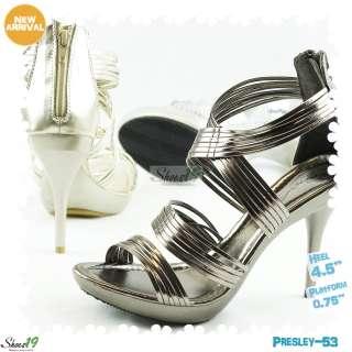 Sandals Platform Stilettos High Heel Bridal Club Wear Dress Shoes
