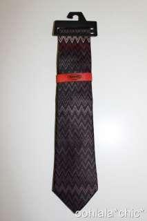 Mens Silk Tie *Variations* Zig Zag Chevron Purple Blue Multi