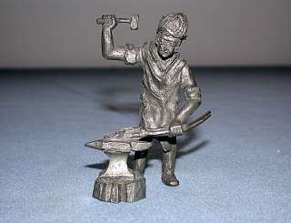 Vintage Signed Royal Daalderop Holland Pewter Blacksmith Figurine~L@@K