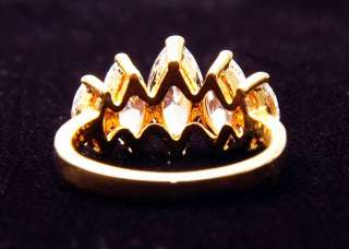 18K Yellow Gold Filled Marquise CZ Ring SZ 6