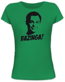 Shirtstreet24 SHELDON BAZINGA Big Bang Theory Lady/Girlie Funshirt