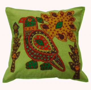 5p Indian Couch Patch Cotton Cushion Cover Pillow India