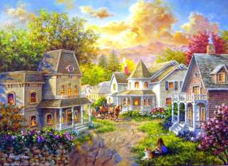 MAIN STREET COUNTRY VILLAGE by NICKY BOEHME 1500 PIECE JIGSAW PUZZLE