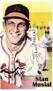 Stan Musial St Louis Cardinals Autographed Index Card