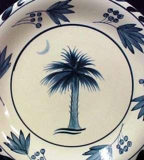 Jose Dovis Palm Tree Folkart Pottery Salad Plate New