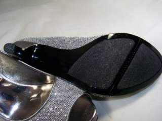 NINE WEST Danee Silver Pewter Heels Size 10.5 Womens Shoes $79 Retail