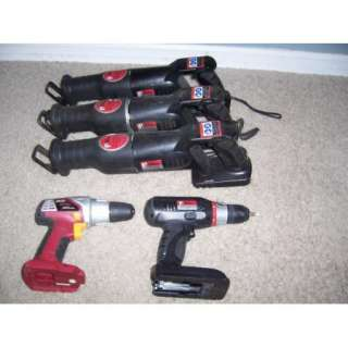 Chicago Drill Master Cordless Tools 3 Sawzaws and 2 Drills |