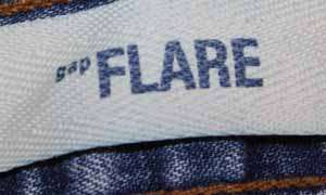 Gap Flare sz 8 x 31 Womens Blue Jeans Denim Pants FK72